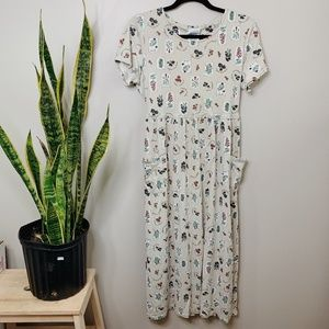 • VINTAGE BOBBIE BROOKS • floral print midi dress